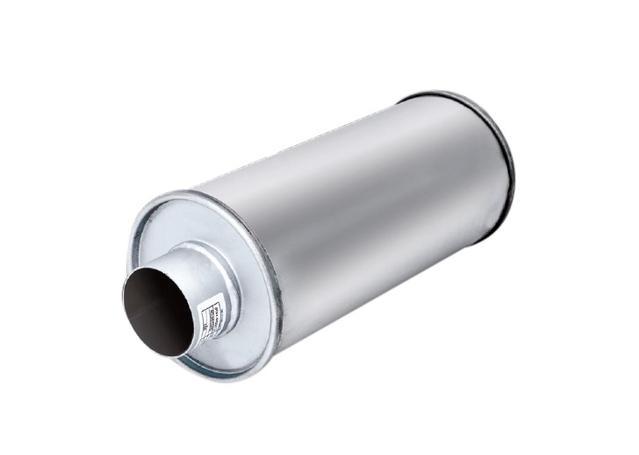XFORCE Muffler Mild Steel - Round 2.5 Inch Inlet 18 Inch Long Sparesbox - Image 1