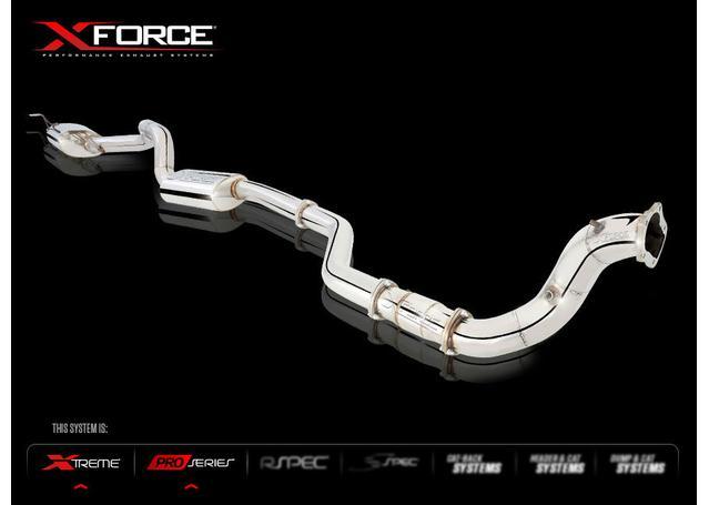"XFORCE Full Exhaust 4"" Dump, 3.5"" Front/Rear Muffler Dual Tip fits FPV FG G6 Sedan 2008+ Sparesbox - Image 2"
