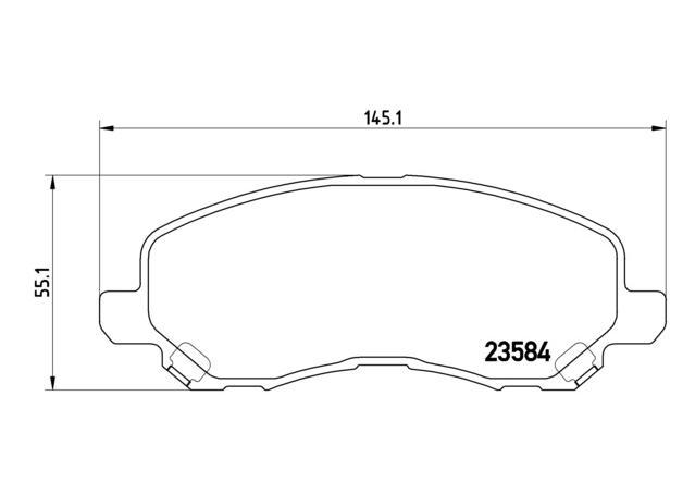 Brembo Brake Pad Front Set P54030 Sparesbox - Image 2