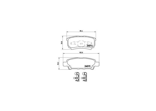 Brembo Brake Pad Rear Set P54034 Sparesbox - Image 2