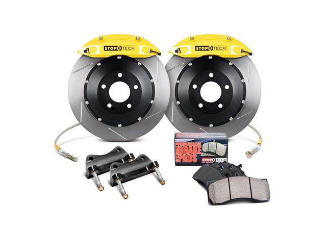 StopTech Big Brake Kit - Fits VW GTI Front w/Yellow ST-41 Calipers 328x25mm Slotted Rotors 06-12 270637