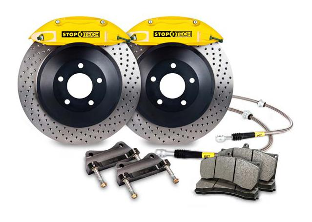 StopTech Big Brake Kit - Fits VW GTI Front w/Yellow ST-41 Calipers 328x25mm Drilled Rotors 06-12 270639