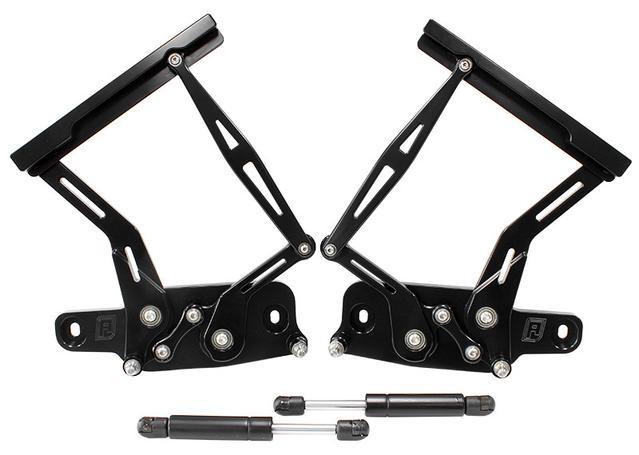Aeroflow Billet Bonnet Hinge Kit Black Fits Lc - Lj - Holden Torana Sparesbox - Image 1