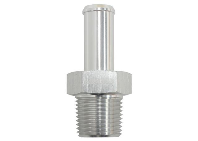"""Aeroflow AF841-08ANS Silver Male 3/8"""" Npt To -8an Barb Straight Suit 100/450 Series Hose Sparesbox - Image 1"""