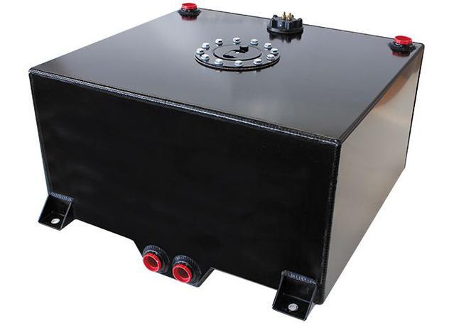 Aeroflow AF85-2150ASBLK Black Alloy Fuel Cell 57 Litre Sparesbox - Image 1