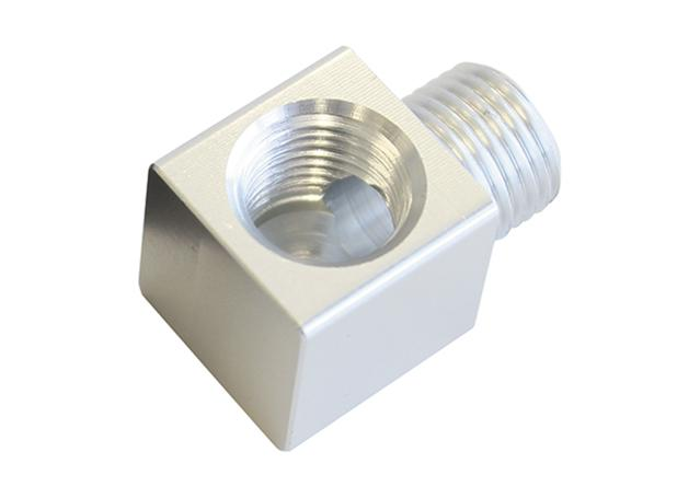 "Aeroflow AF896-02S 90Deg Male To F/Male 1/8"" Silver Adapter Tight Radius Sparesbox - Image 1"
