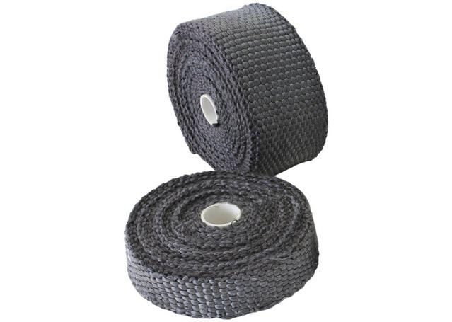 "Aeroflow AF91-3007 Exhaust Insulation Wrap2""x15Ft15 Foot Black Roll Sparesbox - Image 1"