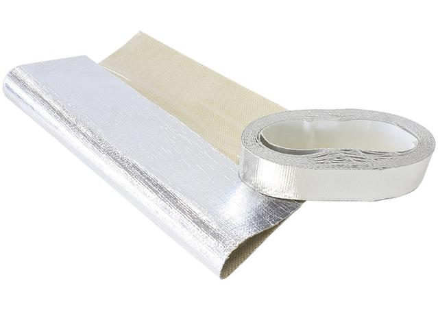 "Aeroflow AF91-4000 1.5"" X 15Ft Roll, Aluminised Heat Barrier Adhesive Backed Sparesbox - Image 1"