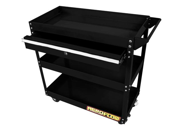 Aeroflow AF98-2032 Workshop Trolley 3 Tier With Lockable Drawer Sparesbox - Image 1