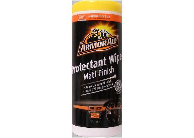 Armor All Protectant Wipes Matt Finish 25pk Sparesbox - Image 1