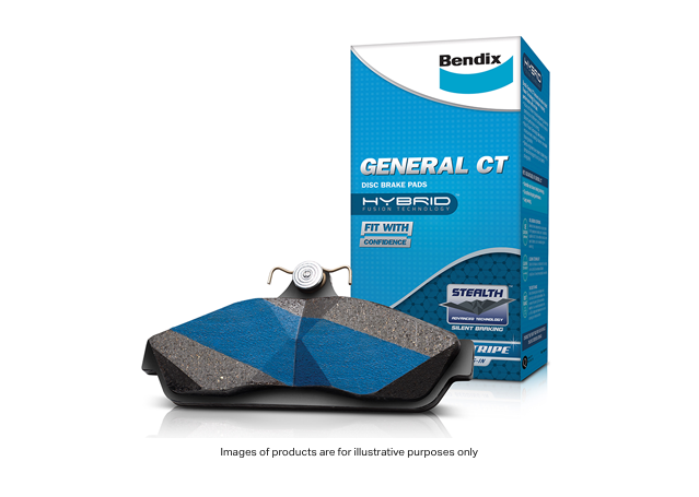 Bendix Brake Pad Set Front General CT DB1491 GCT  Sparesbox - Image 1