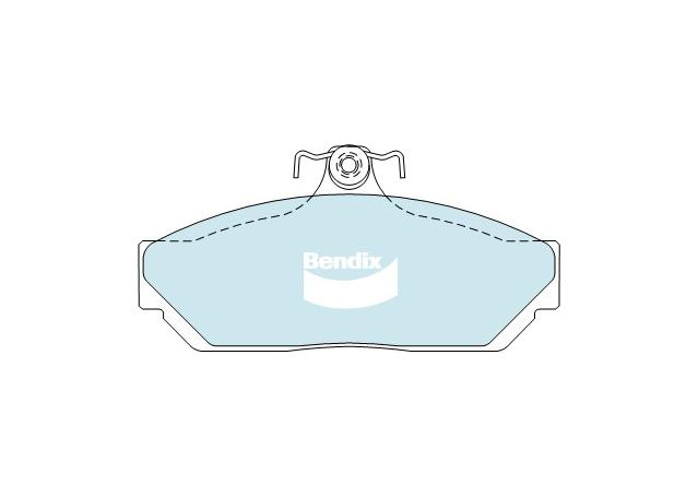 Bendix Heavy Duty Brake Pad Set Front DB1023 HD Sparesbox - Image 2