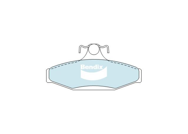 Bendix Brake Pad Set Rear General CT DB1376 GCT  Sparesbox - Image 2