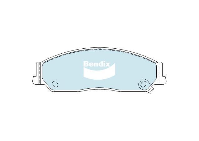 Bendix Brake Pad Set Front General CT DB1474 GCT  Sparesbox - Image 2