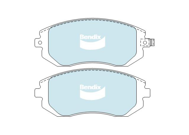 Bendix Brake Pad Set Front General CT DB1491 GCT  Sparesbox - Image 2