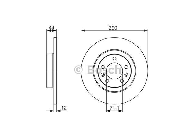 bosch brake rotor pair rear bd1657