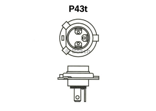 Bosch H4 Globe 12V 60/55W 0986AL1513 Sparesbox - Image 4
