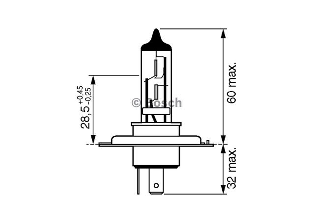 Bosch H7 Globe 12V 55W Sparesbox - Image 3