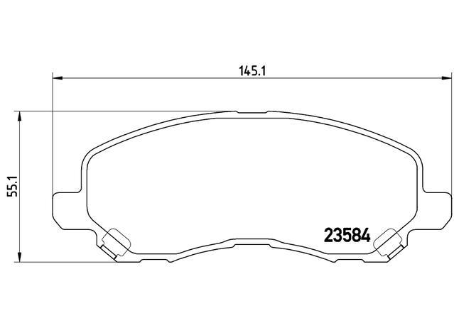 Brembo Brake Pad Front Set (Low-Met) P54030 Sparesbox - Image 3