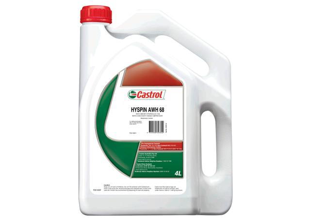 Castrol Hyspin Hydraulic Oil ISO 68 AWH 4L 4103704 Sparesbox - Image 1