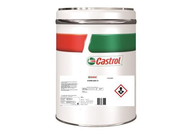 Castrol Hyspin AWS 10 Hydraulic Fluid ISO 20L 4103277 Sparesbox - Image 1