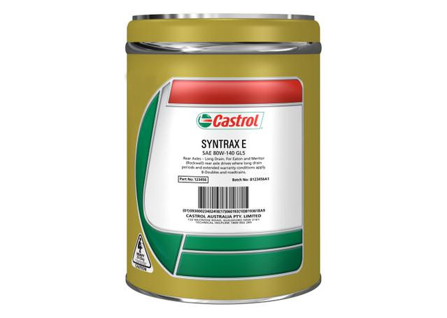 Castrol Syntrax E 75W90 Rear Axle Oil 20L 4100924 Sparesbox - Image 1