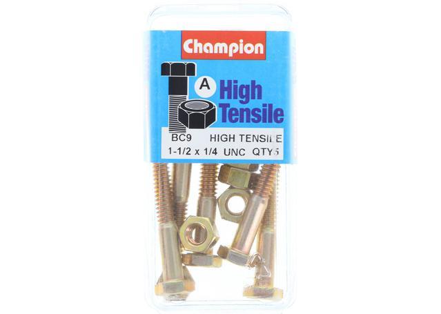 Champion Bolt & Nut Pack UNC 1-1/2 x 1/4 BC9 Sparesbox - Image 1