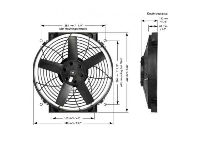 "Davies Craig 11"" Brushless Thermatic Fan 12V 0140 Sparesbox - Image 3"