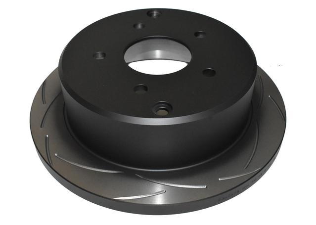 DBA Brake Rotor Slotted T2 Rear Pair DBA041S Sparesbox - Image 2
