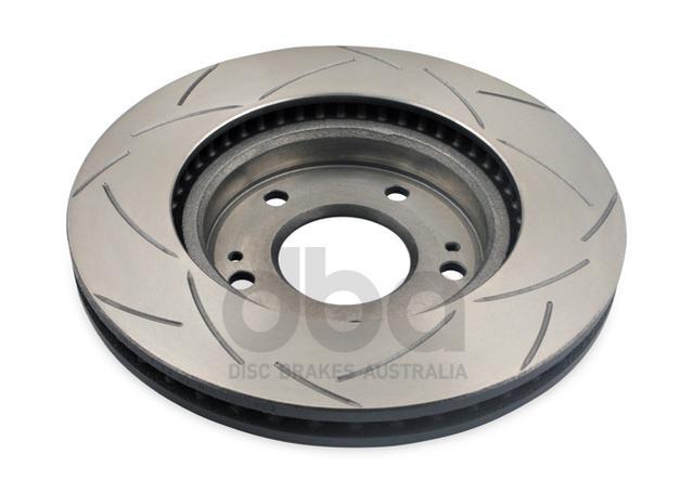 DBA Brake Rotor Slotted 4x4 T2 Pair DBA2201S Sparesbox - Image 3