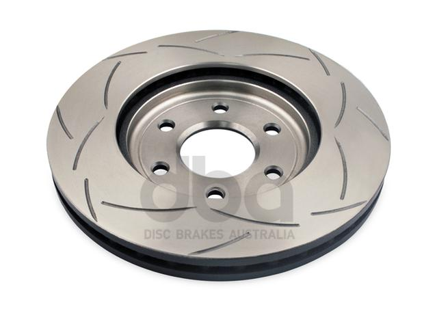 DBA Brake Rotor Slotted 4x4 T2 Front Pair DBA2310S Sparesbox - Image 3