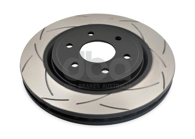 DBA Brake Rotor Slotted 4x4 T2 Front Pair DBA2310S Sparesbox - Image 2