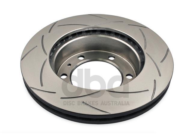 DBA Brake Rotor Slotted 4x4 T2 Front Pair DBA2714S Sparesbox - Image 3