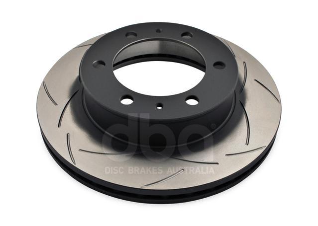 DBA Brake Rotor Slotted 4x4 T2 Front Pair DBA2714S Sparesbox - Image 2