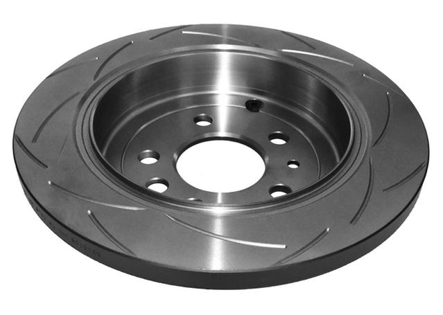 DBA T2 Slotted Brake Rotor Pair Rear DBA505S Sparesbox - Image 3
