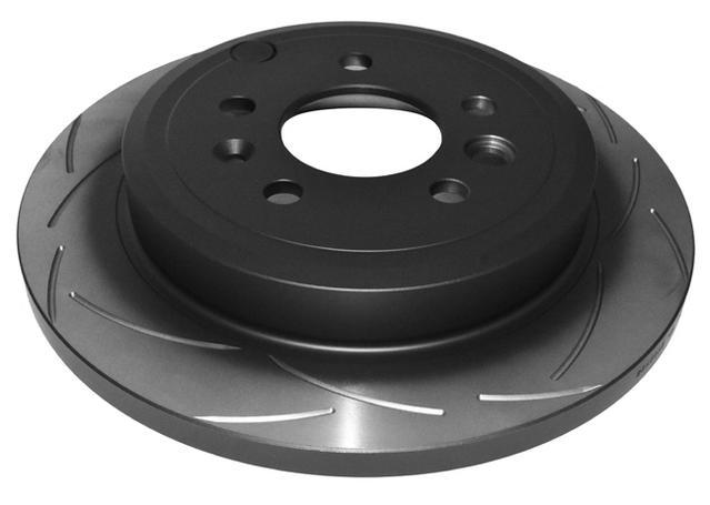 DBA T2 Slotted Brake Rotor Pair Rear DBA505S Sparesbox - Image 2