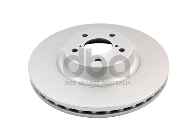 DBA En-Shield Brake Rotor Front Pair DBA650E Sparesbox - Image 2