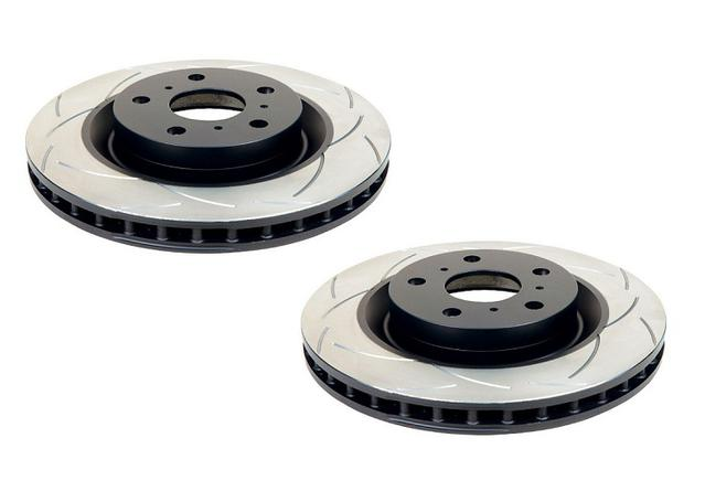 DBA Brake Rotor Slotted T2 Rear Pair DBA2029S Sparesbox - Image 1