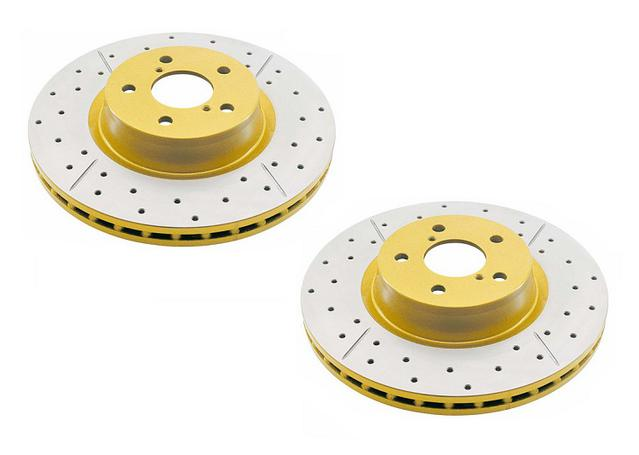 DBA Brake Rotor X-Gold Rear Pair DBA2027X Sparesbox - Image 1