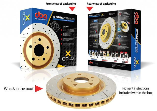 DBA Brake Rotor X-Gold Rear Pair DBA2027X Sparesbox - Image 2