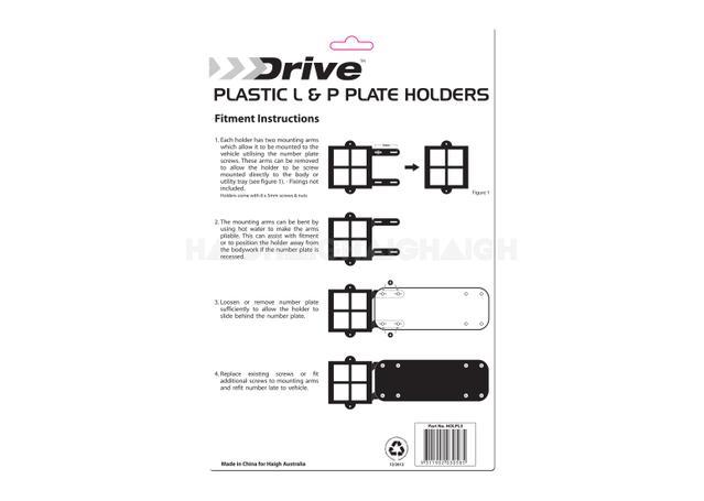 L \u0026 P Plate Holder Set Plastic - Drive HOLPL3 Sparesbox - Image 3  sc 1 st  Sparesbox & L \u0026 P Plate Holder Set Plastic - Drive HOLPL3 | Sparesbox | Sparesbox