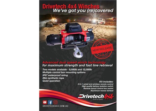 Drivetech 4x4 Dual Speed Winch 12000lb DT-D12000SR Sparesbox - Image 2