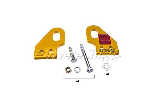 Drivetech 4x4 Recovery Points fits Toyota Landcruiser Prado 120 Series Sparesbox - Image 1