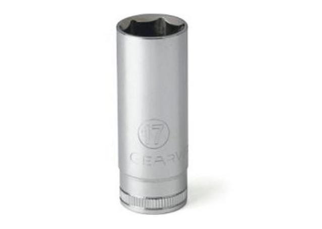 "GearWrench Socket 1/4"" Drive Deep 6pt MET 15mm Sparesbox - Image 1"