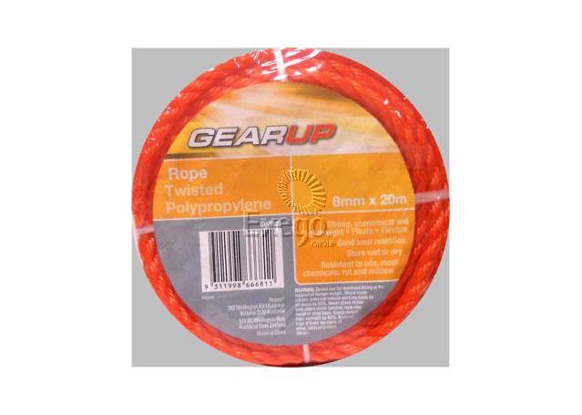 Gearup Multi Purpose Poly Rope 8mm x 20m Sparesbox - Image 1
