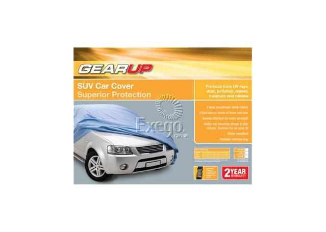 Gearup SUV Car Cover Large 4.8m - 5.2m Silver Sparesbox - Image 1