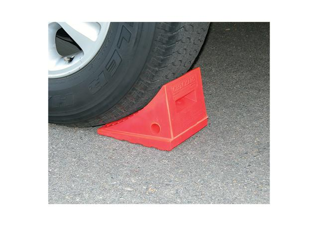 Safety Wheel Chock Checkers Sparesbox - Image 1