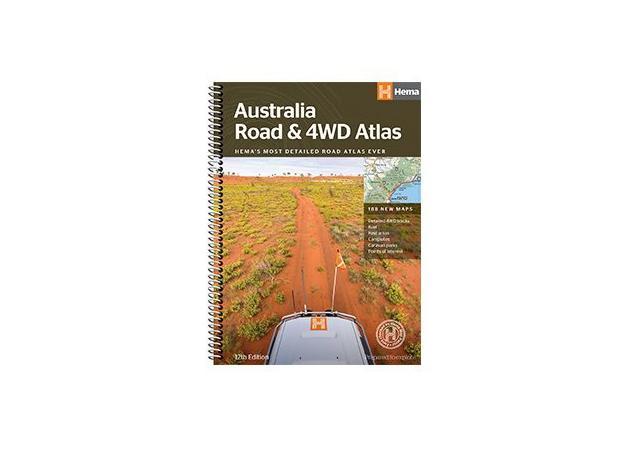 HEMA Australia Road & 4WD Atlas Book Sparesbox - Image 1