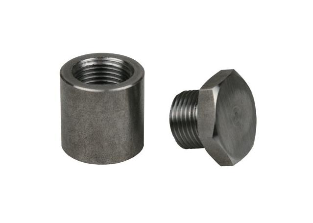 Extended Mild Steel O2 Sensor Bung & Plug 1 Inch Tall Sparesbox - Image 1