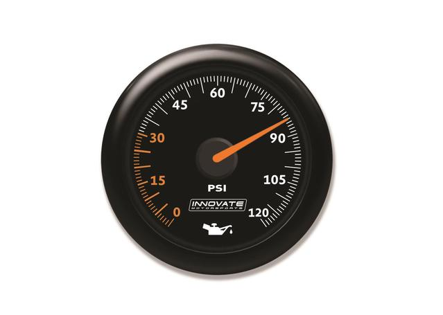 MTX-AL Oil Pressure Gauge Kit Black Dial 0-120psi Sparesbox - Image 1